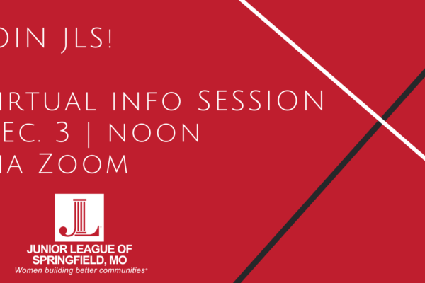 Image Text: Join JLS! Virtual Info Session Dec. 3 at Noon Via Zoom