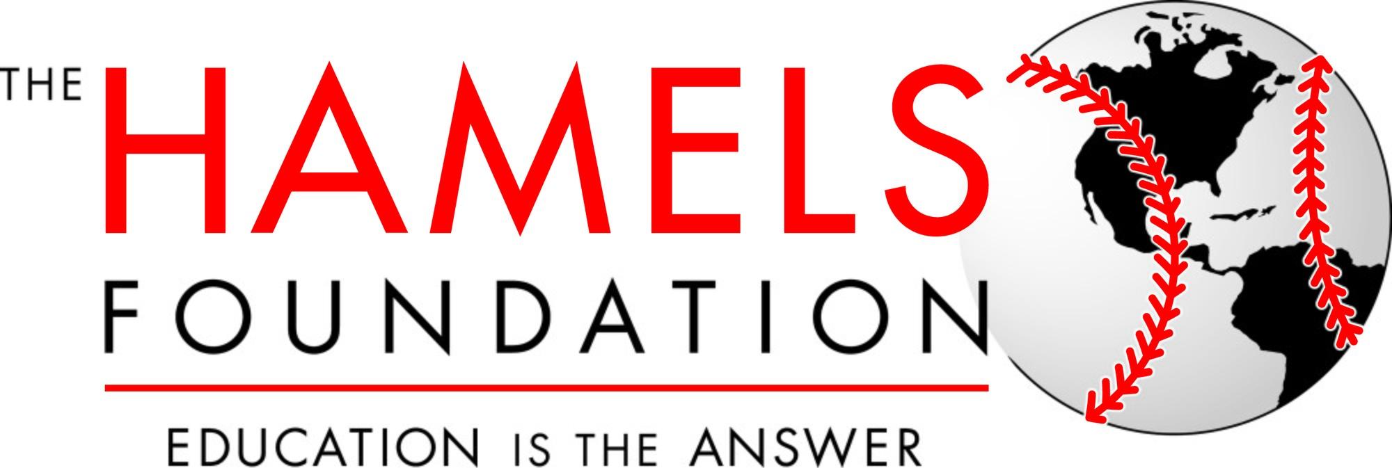 Hamels Logo with stroke on globe CMYK